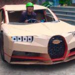 Видео: педальный Bugatti Chiron из картона