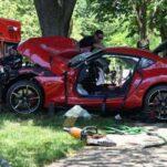 Новую Toyota Supra разбили после выезда из автосалона